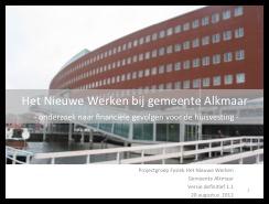 Huisvesting ambtelijke organisatie, college van B&W en gemeenteraad, Alkmaar