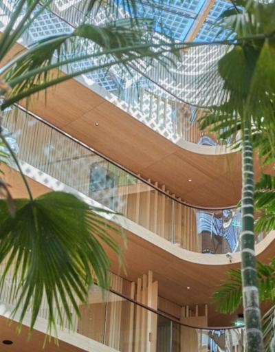 Hotel Jakarta Amsterdam binnentuin
